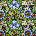 Free Spirit Wild Child Flower Fiesta Blue Fabric