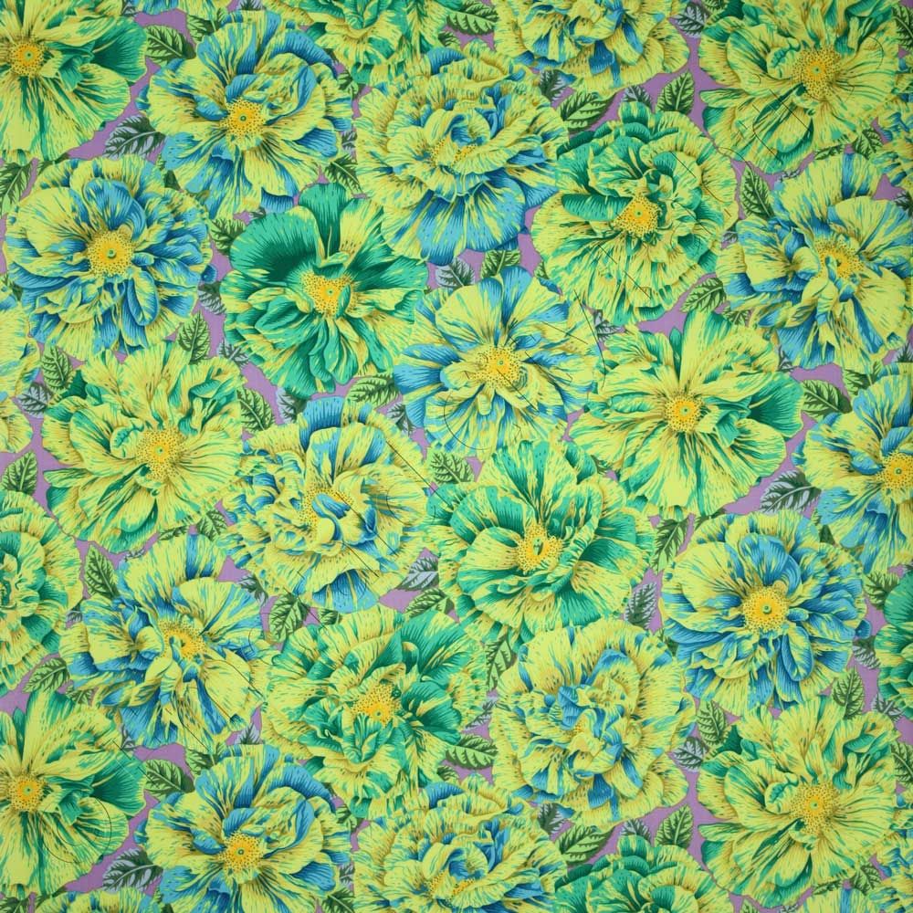 Kaffe Fassett Collective Bouffant Green Fabric Emerald