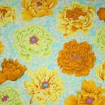 Kaffe Fassett Collective Brocade Peony Yellow Fabric
