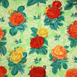 Free Spirit Botanical Roses Green Fabric
