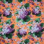 Free Spirit Botanical Violets Peach Fabric