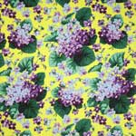 Free Spirit Botanical Violets Yellow Fabric