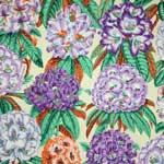 Free Spirit Botanical Rhododendrons Purple Fabric