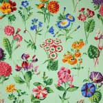 Free Spirit Botanical Floral Sprays Green Fabric