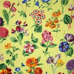 Free Spirit Botanical Floral Sprays Yellow Fabric