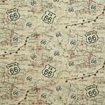 Timeless Treasures Fabric by the Yard Route 66 Map Beige