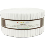 Robert Kaufman Kona Cotton White Jelly Roll Up