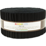 Robert Kaufman Kona Cotton Black Jelly Roll Up