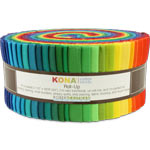 Robert Kaufman Kona Cotton Solids New Classic Palette Jelly Roll Up, 41 2.5x44-inch Cotton Fabric Strips