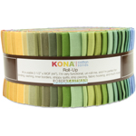 Robert Kaufman Kona Cotton Solids Dusty Jelly Roll Up