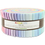 Robert Kaufman Kona Cotton New Pastel Jelly Roll Up