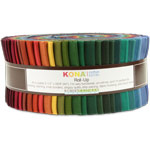Robert Kaufman Kona Cotton New Dark Jelly Roll Up