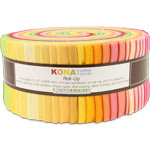Robert Kaufman Kona Cotton Sunrise Jelly Roll Up