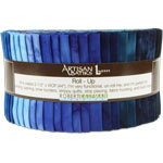 Robert Kaufman Artisan Batiks Prisma Dyes Open Waters Jelly Roll Up