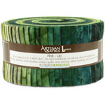 Robert Kaufman Artisan Batiks Prisma Dyes Rainforest Jelly Roll Up