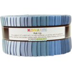 Robert Kaufman Kona Cotton Solids Overcast Jelly Roll Up