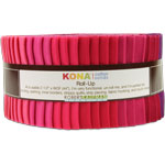 Robert Kaufman Kona Cotton Fragrant Fuchsia Jelly Roll Up