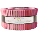 Robert Kaufman Kona Cotton Solids Powder Room Jelly Roll Up