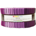 Robert Kaufman Kona Cotton Fancy Floral Jelly Roll Up