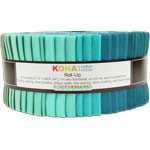 Robert Kaufman Kona Cotton Midnight Oasis Jelly Roll Up