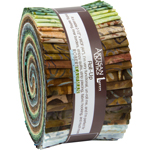 Robert Kaufman Artisan Batiks Grove Jelly Roll Up