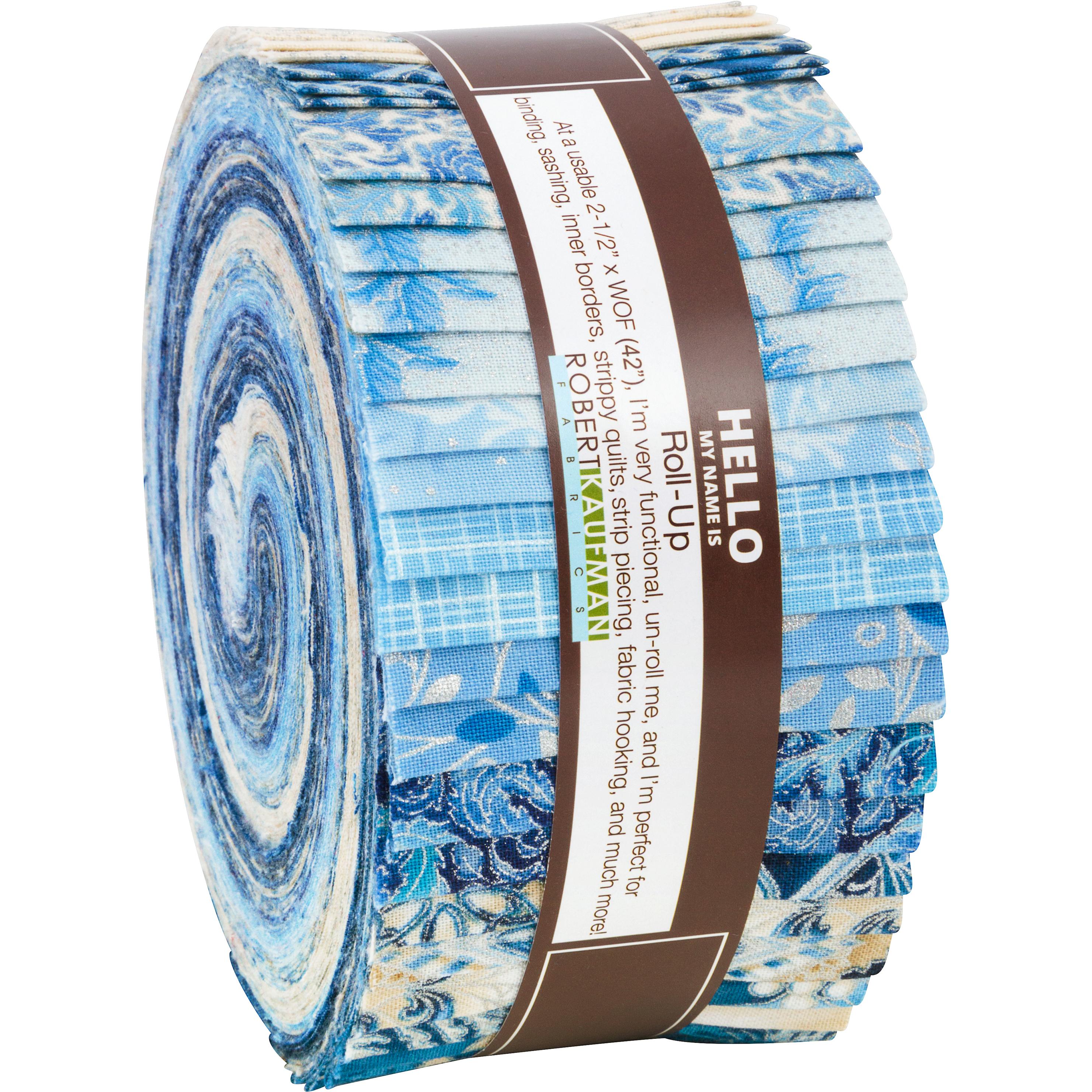 Robert Kaufman Holiday Flourish 10 Blue Silver Metallic