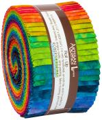 Robert Kaufman Artisan Batiks Patina Handpaints Double Ombre Jelly Roll by Lunn Studios