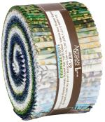 Robert Kaufman Artisan Batiks Twilight Snowfall Jelly Roll by Studio RK
