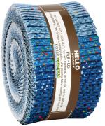 Robert Kaufman Dappled Blues Jelly Roll by Studio RK