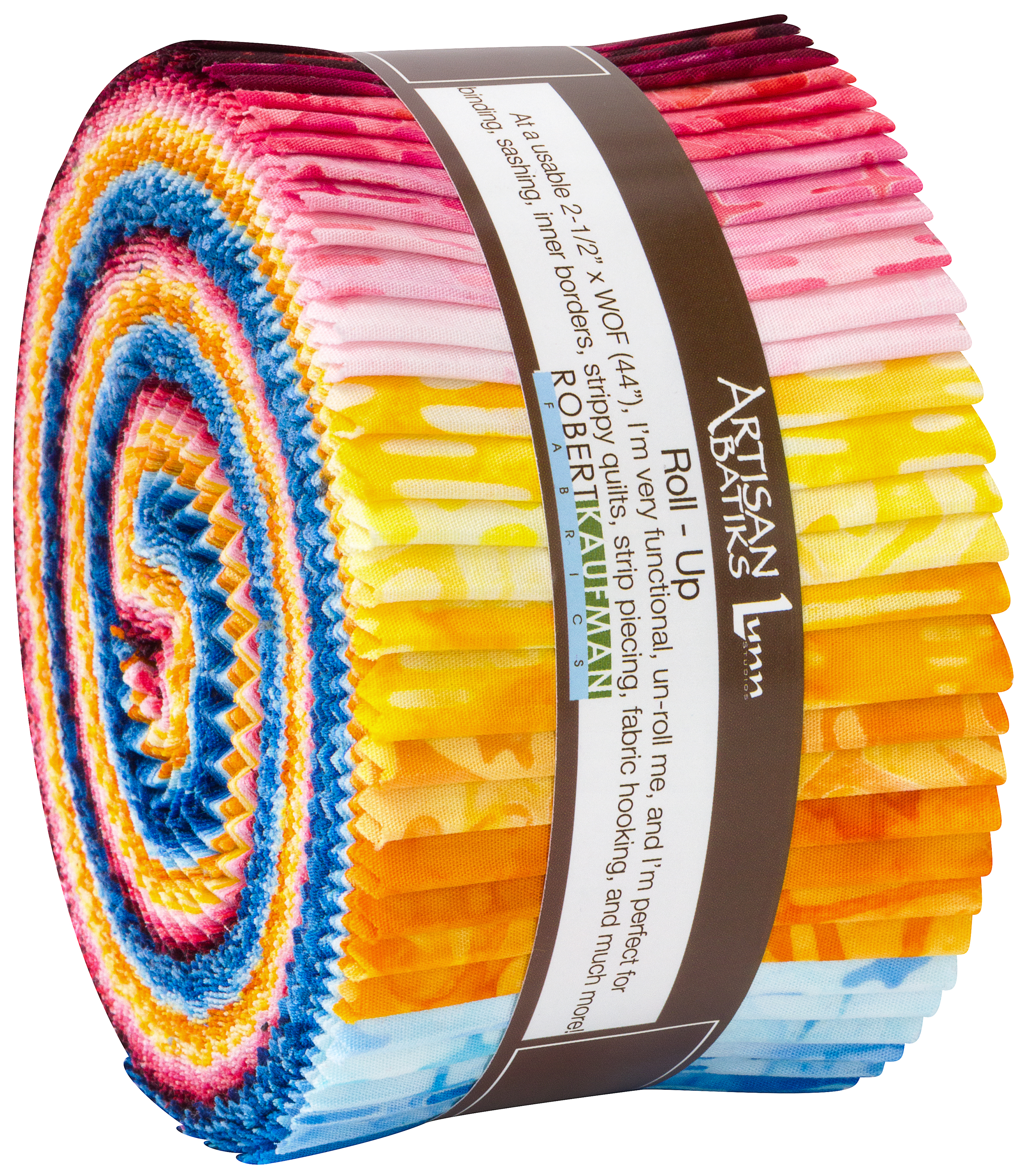MULTI COLOR COORDINATING DAISIES  2.5 Inch  JELLY ROLL STRIPS