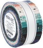 Robert Kaufman Wishwell Moonlight Jelly Roll by Vanessa Lillrose and Linda Fitch