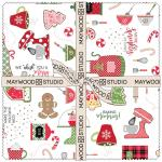 Maywood Studio We Whisk You a Merry Christmas! Layer Cake by Kim Christopherson