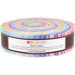 Robert Kaufman Kona Cotton Solids Pastel Palette Skinny Strips Jelly Roll