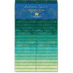 Northcott Artisan Spirit Shimmer Peacock Gold Metallic Jelly Roll Strips by Deborah Edwards