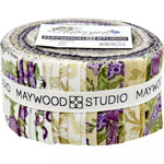 Maywood Studio Aubergine Jelly Roll by Debbie Beaves