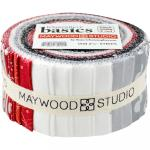 Maywood Studio KimberBell Basics Jelly Roll Black, White, and Red by Kim Christopherson