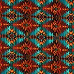 Timeless Treasures Southwest Indian Blanket Print Multi Fabric