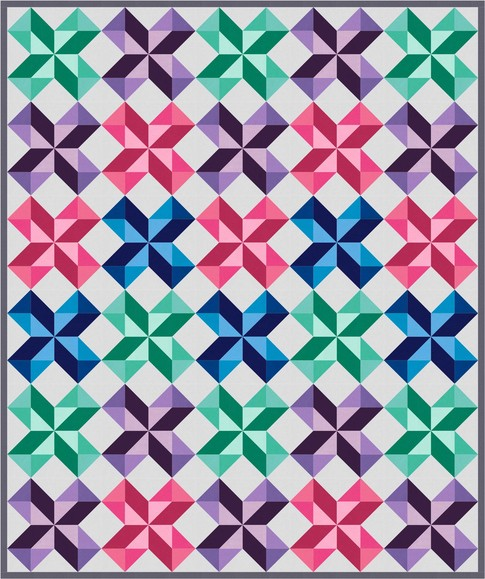 Free Quilt Pattern - Chevron Stars Featuring Kona Cotton