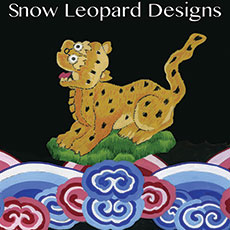 Snow Leopard Designs Fabric