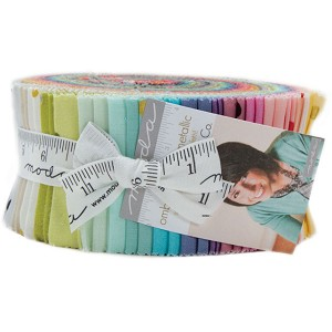 Moda Ombre Confetti Metallic Jelly Roll by V and Co.
