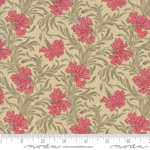Moda Le Beau Papillon Lysandra Oyster Fabric by French General