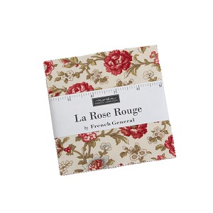 Moda La Rose Rouge Charm Pack by French General