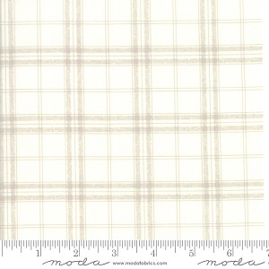 Moda Bramble Cottage French Plaid Pebble Fabric by Brenda Riddle Designs