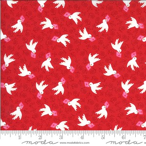 Moda Fabric Be Mine Kisses Fabric by Stacy Iest Hsu