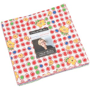 Moda Feed Sacks Red Rover Layer Cake by Linzee Kull McCray