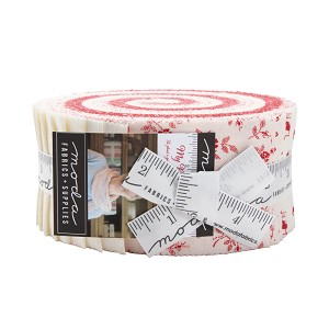 Moda My Redwork Garden Jelly Roll by Bunny Hill Designs