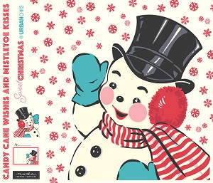 Moda Swell Sweet Christmas Snowman Fabric Panel by Urban Chiks