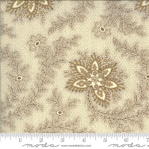 Moda Elinore's Endeavor 1830 - 1910 Wild Rose Chocolate Fabric by Betsy Chutchian