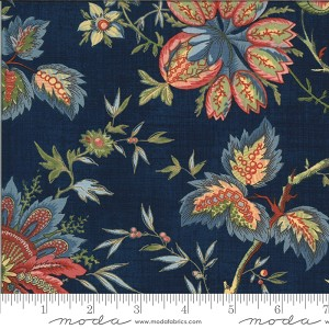 Moda Elinore's Endeavor 1830 - 1910 Mulberry Grove Indigo Fabric by Betsy Chutchian
