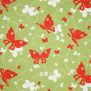 Moda Just Wing It Flutters Leaf Green Fabric